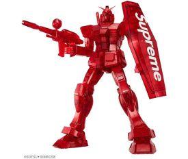 潮牌Supreme联动高达!联名款高达模型通体红色:大LOGO看着就贵