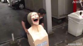 这种事情不要啊!谏山创老家大分县《进击的巨人》造型垃圾桶正式揭幕
