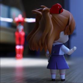 定格动画大师篠𠩤健太新作:EVA2号机体操表演