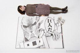 9000元!1米高《进击的巨人》漫画公布 重达13.7kg